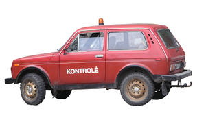 Kontroll car: A 4x4 car. Isolated.