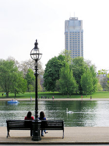 In the park: Serpentine lake, Hyde Park. This is London!