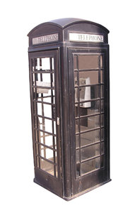 Phone booth: A phone cabin in London.