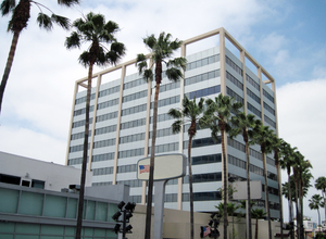 Office building: An office building in Los Angeles.