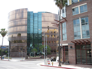 Round office building: A round office building (directors guild), Los Angeles, Hollywood.