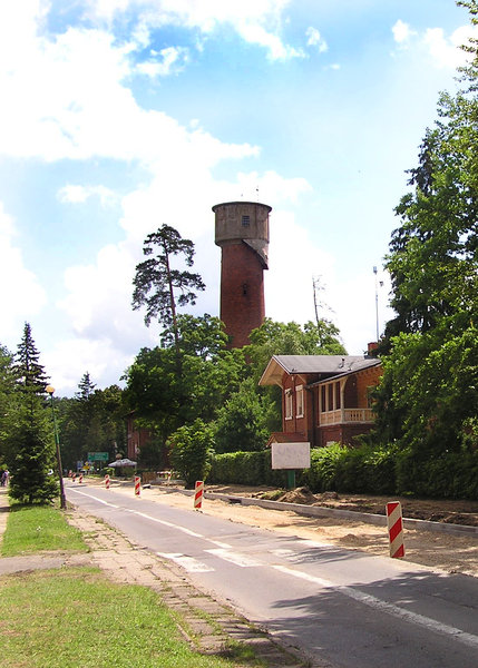 Water tower: A water pressure tower in Spala.
