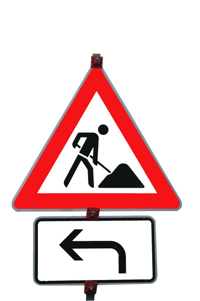 Road works: Construction ahead