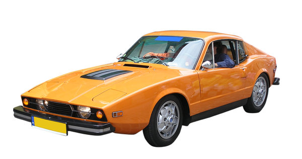 Sport car: An orange sport oldtimer. Please let me know if you decide to use it!