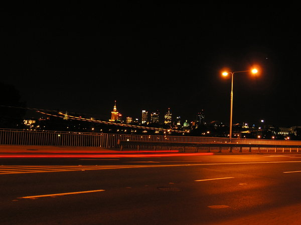 Bridge in the night: A night over the bridge Gdanski in Warsaw. Please let me know if you decide to use it!