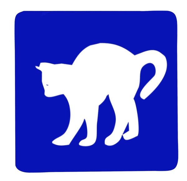 Cat sign: A sign with a cat. Spotted also in Swinoujscie.Please comment this shot or mail me if you found it useful. Just to let me know!I would be extremely happy to see the final work even if you think it is nothing special! For me it is (and for my portfolio)!