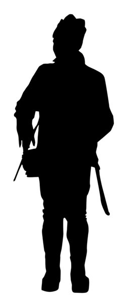 Old soldier: A silhouette of old soldier in historic uniform.Please comment this shot or mail me if you found it useful. Just to let me know!I would be extremely happy to see the final work even if you think it is nothing special! For me it is (and for my portfolio)!