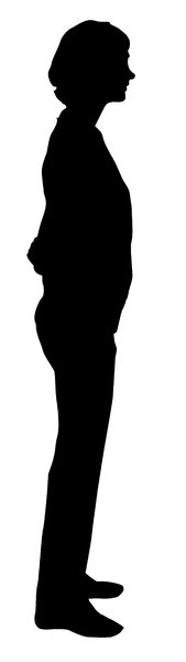 Nice girl: A nice girl silhouette.