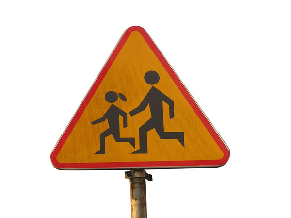 Warning sign - children crossi: Just a roadsign.
