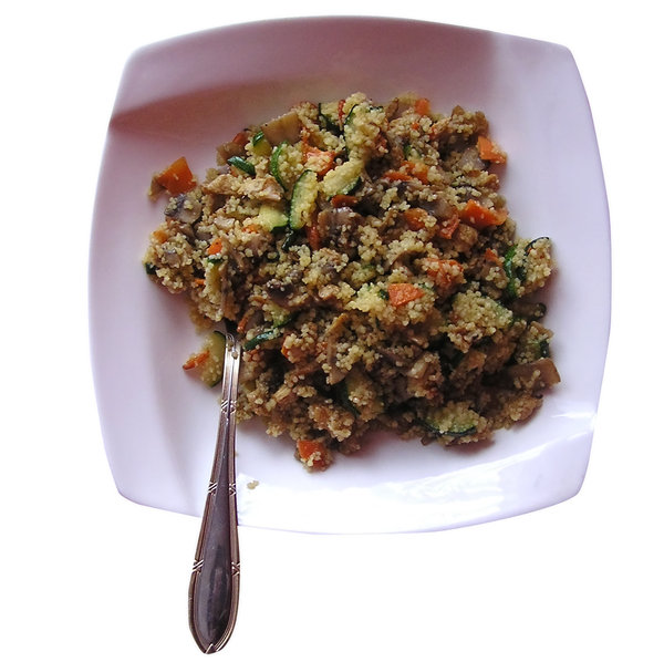 Couscous: Couscous with vegetables.