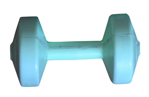 Dumbbell: The dumbbell, a type of free weight, is a piece of equipment used in weight training. It can be used individually or in pairs (one for each hand).