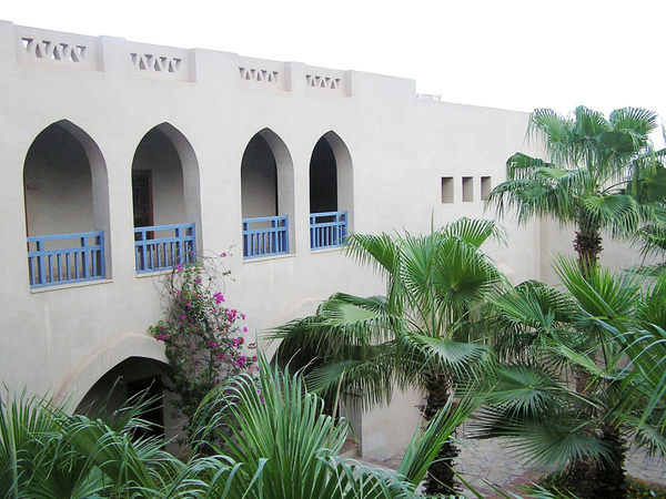 Hotel Yard: A hotel yard in Egypt (Taba Heights).