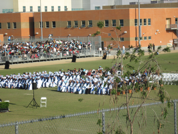 Commencement day: Commencement day at school