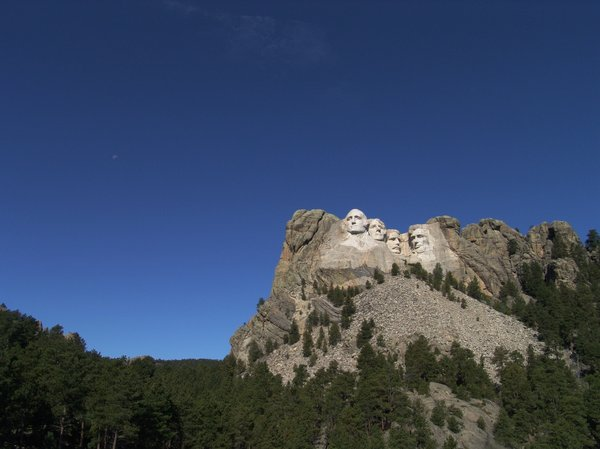 Mount Rushmore - South Dakota: The Four Presidents, Washington, Jefferson, Roosevelt and Lincoln are carved into the granite face of this mountain, located in South Dakota.