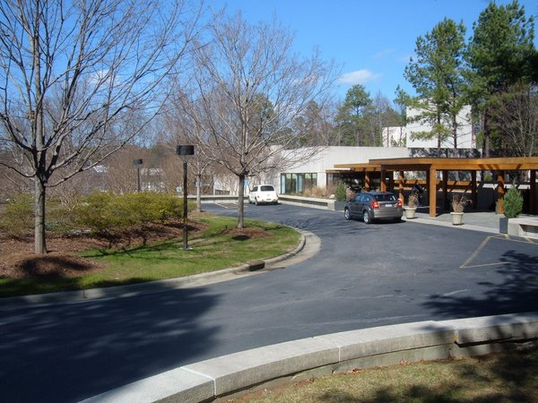 Retreat Center with Trees: retreat center surrounded by trees in Durham, N.C., USA