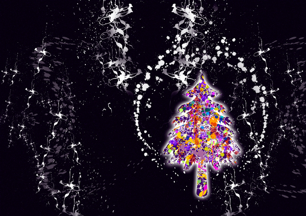 Christmas tree: graphic design - illustration of abstract Christmas tree
