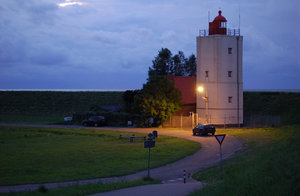 Dutch lighthouse: A dutch lighthouse near the dyke