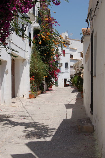 Altea streets 3: Old streets at the old centre of the spanish village Altea