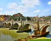 St. Angel's Bridge: Saint Angelo bridge in Rome, Italy