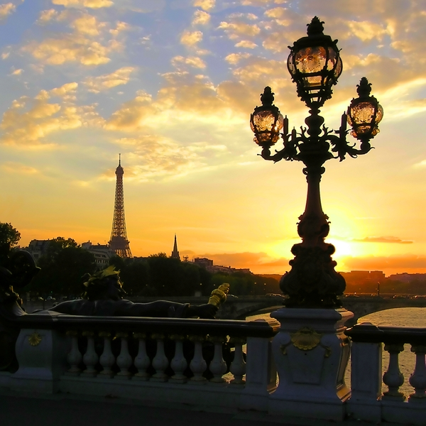 Sunset in Paris: It's a sunset in Paris. I think, the view is magic and so I decided to share it with you. The shot was taken in September of 2006, approximately at 7:00PM at Alexander III bridge. You may use it as you wish. but please, leave here any comments about my wo