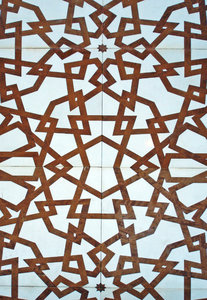 Mosque detail: This is part of one of the decorative panels on the mosque on Martyrs Square in Beirut