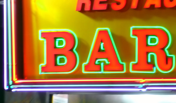 Bar: Neon sign for a restaurant