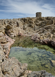 Sardinian Watch Tower 2: A sardinian watch tower near cala domestica in the sulcis area of sardinia in Italy