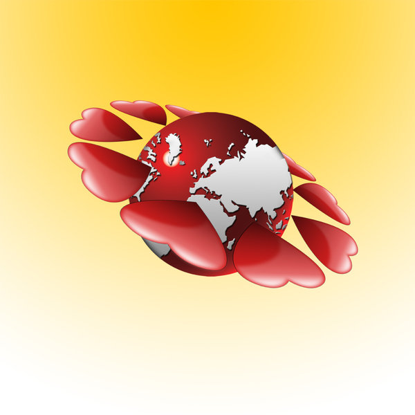 Love globe: Valentines day design