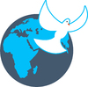 Globe and Dove: World globe and dove clipart.