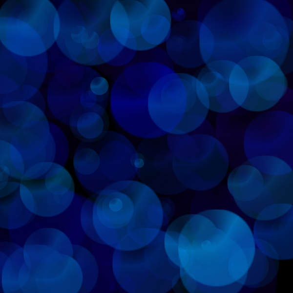 Blue Bokeh: Abstract blue bokeh blur.