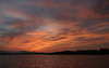 sunset lake 4: sunset on chiemsee (lake in germany) 4