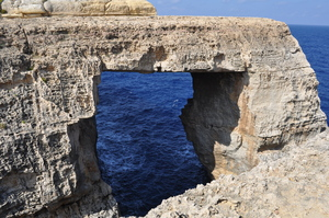 Natural arch: on Gozo, Malta