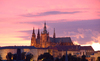 Sunset in Prague 2: The mighty castle in Prague durin g a long afternoon...