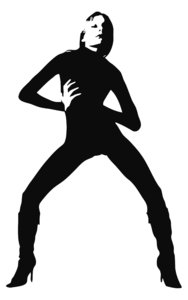 girl silhouette: sexy silhouette of a woman dancing