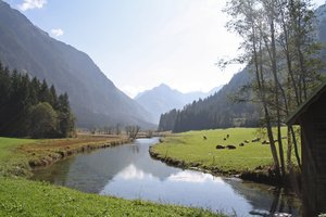 schladming-rohrmoos: valley, glen in austria, schladming-rohrmoos, very nice hike