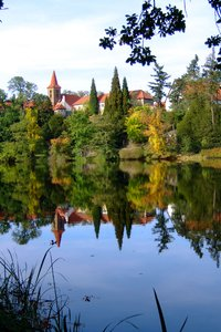 mirror castle: park of a castle near prague