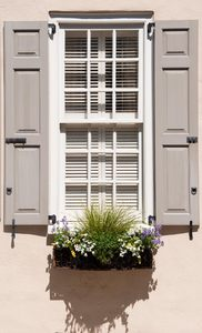Shuttered Windows II: Shuttered windows from Charleston, South Carolina, all 18thC and 19thC. Shot in direct sunlight