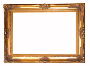Gilt Frame: Ornate Gilt covered Frame in the Victorian Style