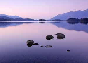 serenity on derwent water: shot last winter on a trip to the lakes