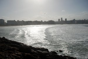 Rough sea 3: Rough sea in Coruña city (Galicia, Spain, EU)