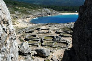 Hill fort 2: Celtic hill fort in Baroña, Galicia, Spain, EU