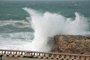 Sea waves power 4: Sea waves in Coruña city. This is what I see when I look out of my window.
