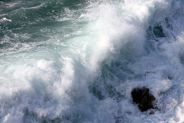 Tidal power 1: Tidal power in atlantic ocean. A Coruña, Galicia. Spain. EU