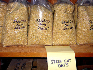 Steel Oats: Made at a North Carolina old fashioned water wheel mill.