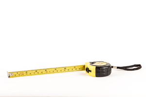 Measuring Tape: Black and Yellow Measuring tape