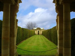 avenue: landscaped garden created as an entrance to garden