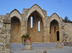 Rhodes Town - Building: Remains of Building in Rhodes Town, Today is being preserved.
