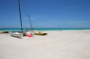 Cuban Beach: Typical beach in Cuba