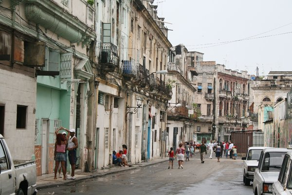 Cuban Street - Havana: This is a typical street in the poorest side of Havana.