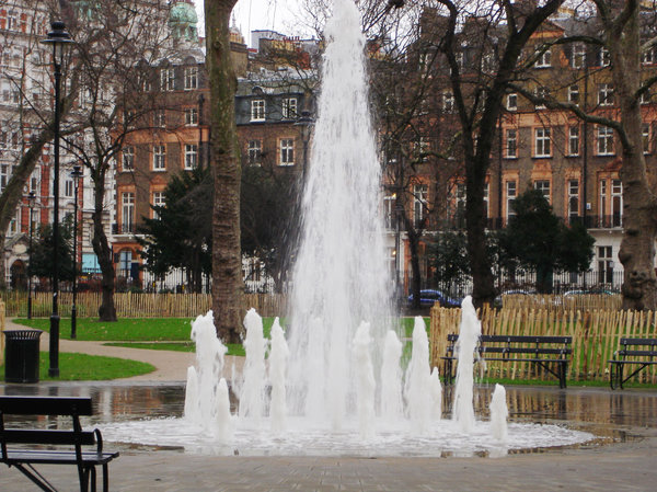 Fountain: Fountain in Russell Square , London